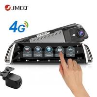 JMCQ 10 Touch Screen 4G WIFI Smart Car DVR Android Stream Media View Mirror Dual Lens image GPS Navigation ADAS Dash Cam