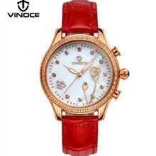 Vinoce mujer relojes Relogio reloj de cuarzo correa de mesa de agua de perfume diamante dorado de lujo casual marca de moda nueva de acero v6276l