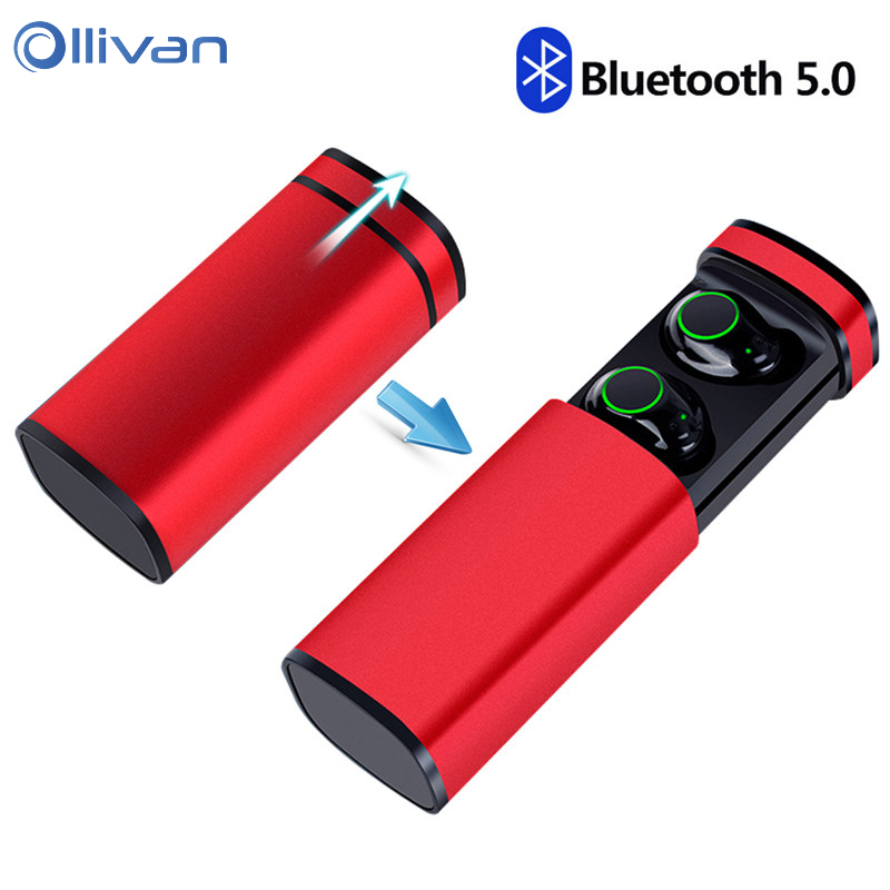Ollivan TWS Bluetooth Earphone Bluetooth 5.0 True wireless earbuds with Charging Box HIFI Bass Touch Control EarbudsOllivan TWS Bluetooth Earphone Bluetooth 5.0 True wireless earbuds with Charging Box HIFI Bass Touch Control Earbuds