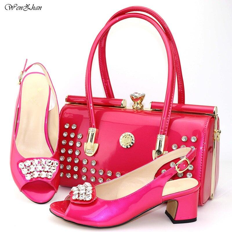 Correspondre 44 Chaussures Pink Assortis Style coffee Sacs Mariage 38 Et Les Couleur Avec 6 Vin Pour C812 Unique Cm wine À Nigeria 6 Partie Rose Sac 8 black R57wSx