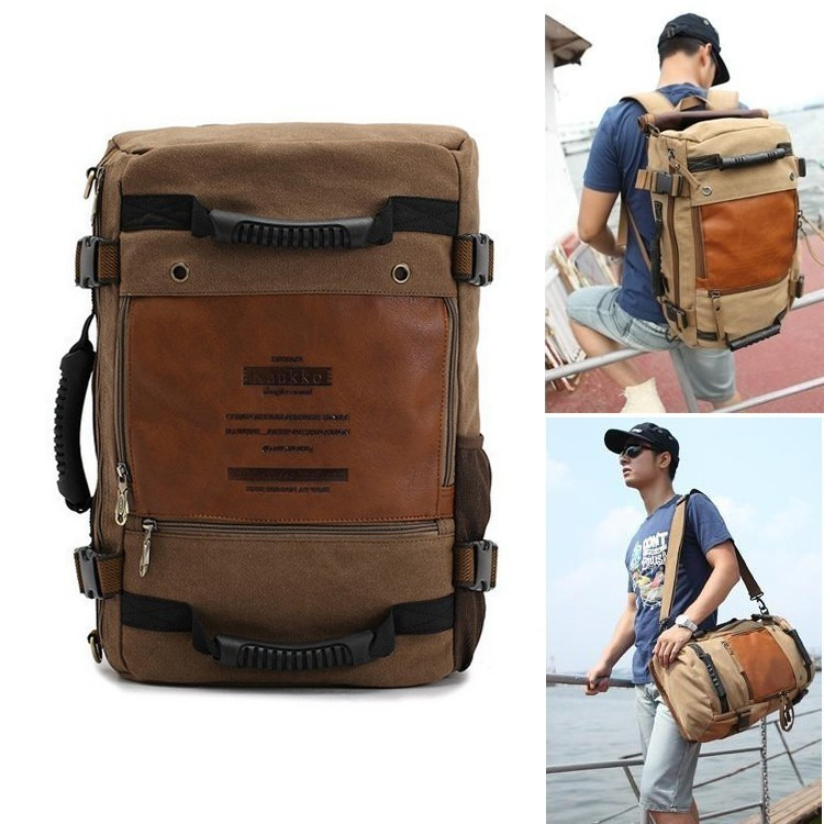 Aliexpress.com : Buy Men's Vintage Canvas backpack Rucksack laptop ...