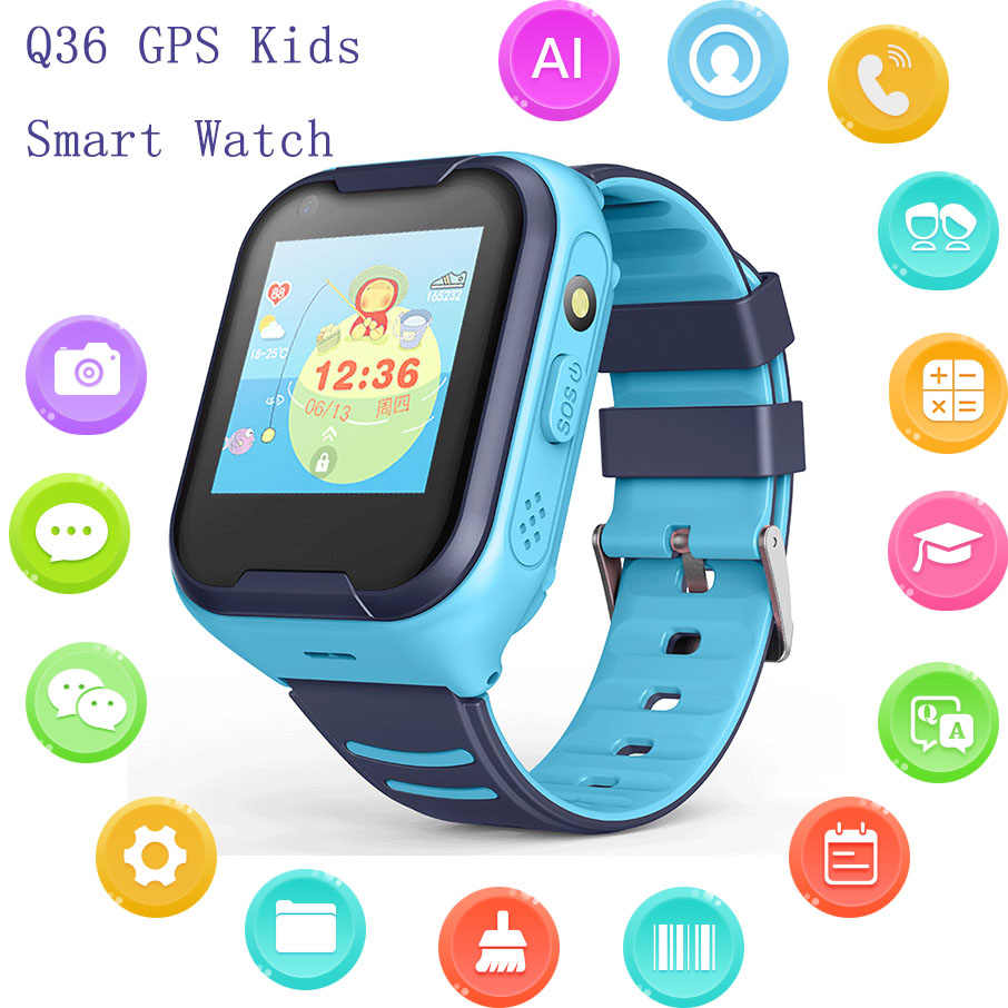 Reloj Inteligente Children Kids Smart Watch Phone 4G Full Netcom AI Voice Waterproof GPS Positioning Watch Video Call Q50 Watch