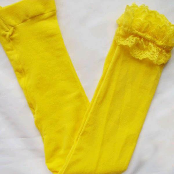 Baby Girls Trendy Lace Velvet Legging Children Kids Ballet Bottom Leggings
