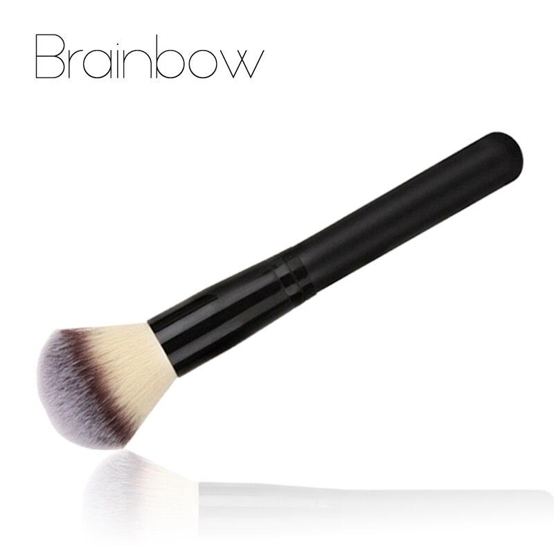 Brainbow 1 pc מברשת איפור אבקת סומק מברשת 3 צבעים ניילון שיער מברשות איפור קוסמטיקה קרן איפור יופי חיוני