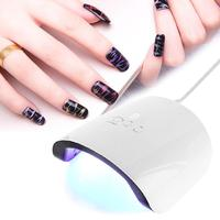 24 W Profissional 12 LED Lâmpada UV Secador Do Prego do Salão de Beleza DIY Máquina de Secagem de Unhas de Gel de Cura Nail Art Secador de Manicure ferramenta
