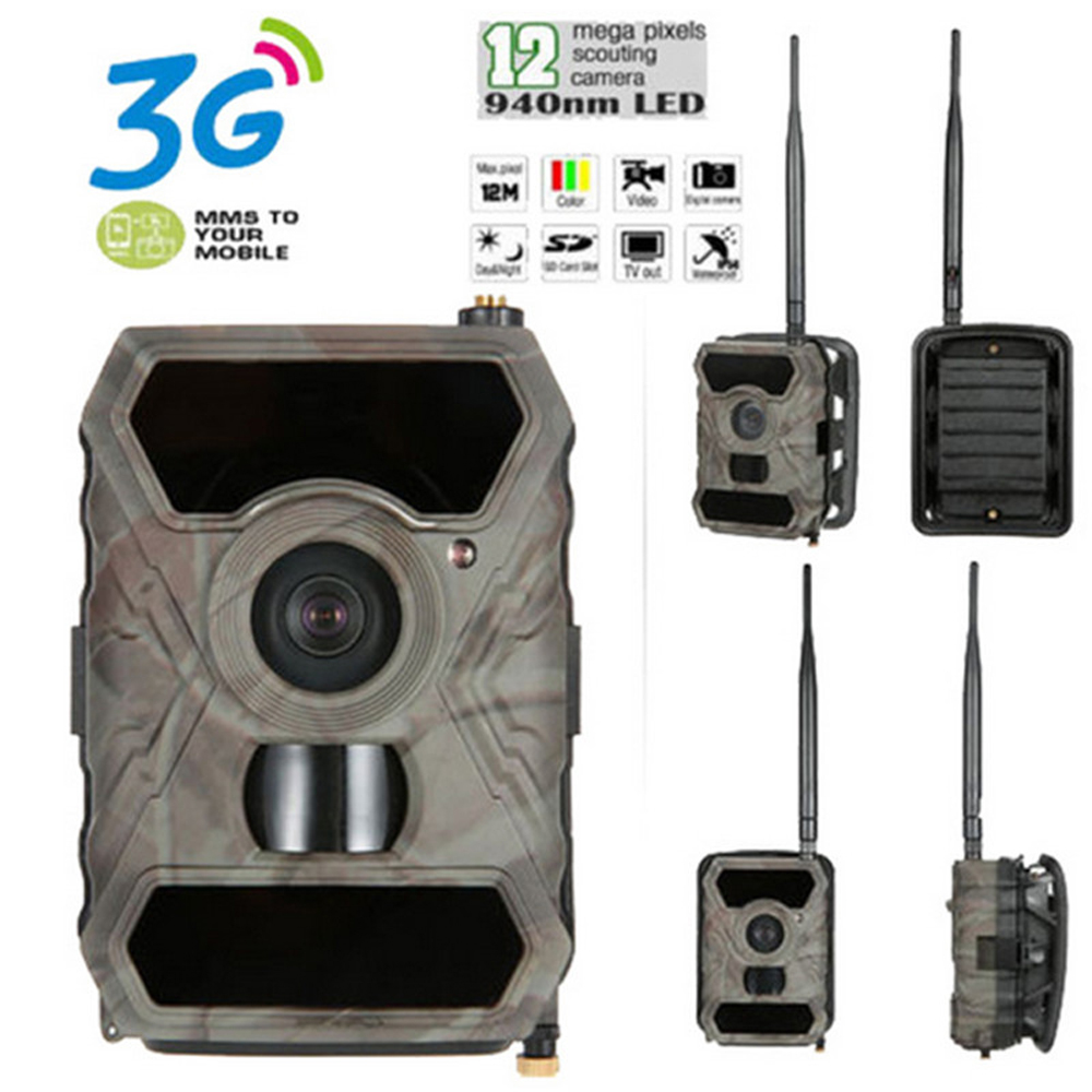 <font><b>1</b></font> PCS <font><b>10</b></font> Languages Wide Life Scouting Camera Support 3G and APPs 12MP 1080P video DVR recorder hunter camera waterproof IR photo image