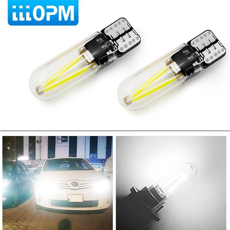 купить 2pcs 2018 newest W5W led T10 cob glass car light Led filament auto automobiles reading dome bulb lamp DRL car styling 12v 24v по цене 79.17 рублей