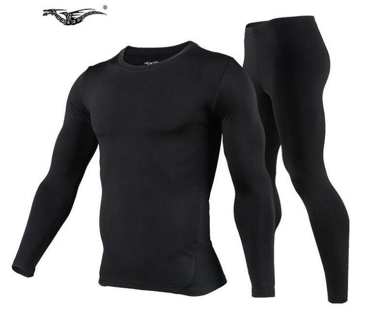 Men Outdoor Sports Thermal Underwear Set Polartec Winter Warm Long Johns Men Thermo Underwear Top Pants Cycling Base Layers brooklyn letter cropped long sleeve top