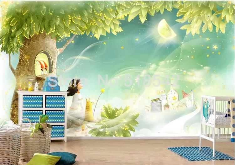 HTB1bbr.KpXXXXXPXXXXq6xXFXXXz Custom Photo Wallpaper 3D Dream Cartoon Children Room Living Room Bedroom Home Decoration Wall Art Mural Wallpaper For Walls 3 D