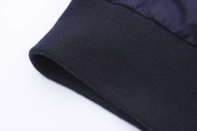 A Sneak Peek Fall / Winter Fashion Denim Patchwork Hit Color Hooded 3