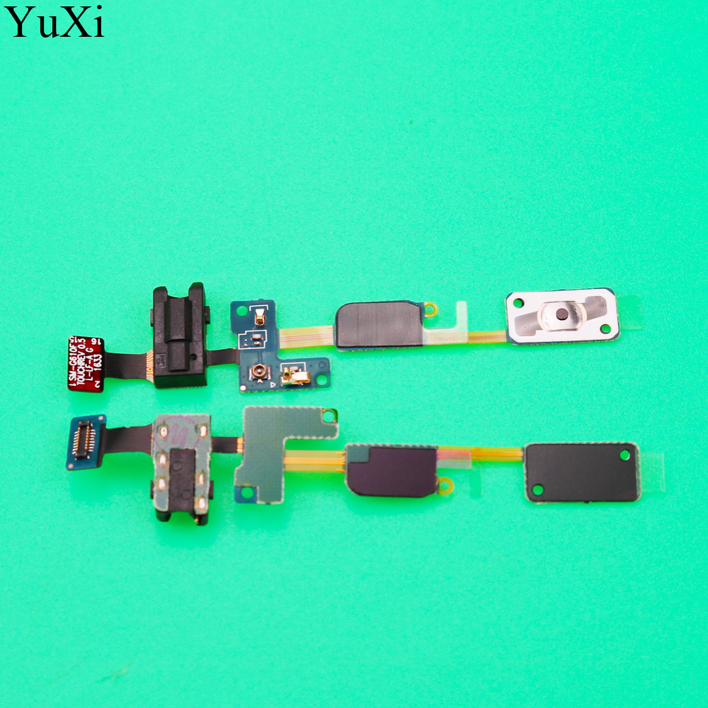 YuXi Home Button + Earphone Jack Flex Cable for Samsung Galaxy J7 Prime / On7 (2016) G610 image