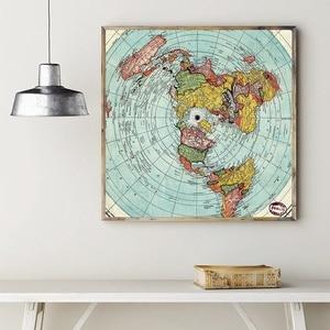 Flat Earth Map Gleason's Art C