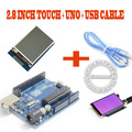 2.8 polegada TFT LCD Touch Screen Display Module + Ampla + Cabo USB UNO R3 diy