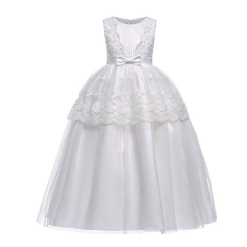 Robe d'enfants avec motif floral pour les filles robe de demoiselle d'honneur de mariage blanc robes d'été pour les filles robes de vacances pour les filles,