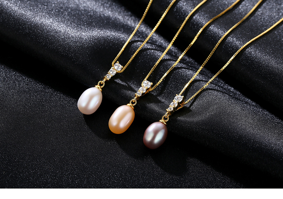 New Freshwater Pearl Pendant S925 Sterling Silver Fashion Womens Necklace Gift YSM01New Freshwater Pearl Pendant S925 Sterling Silver Fashion Womens Necklace Gift YSM01