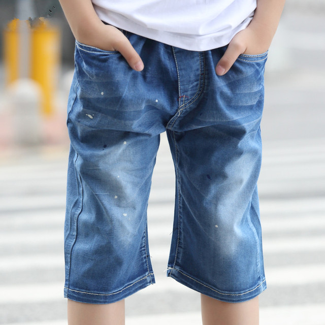 AZEL 2017 New Arriaval Casual Style Boys Jeans Kids Boys Pants Summer Kids Clothes Trousers 8 9 10 11 12 13 Years Old SKP164005