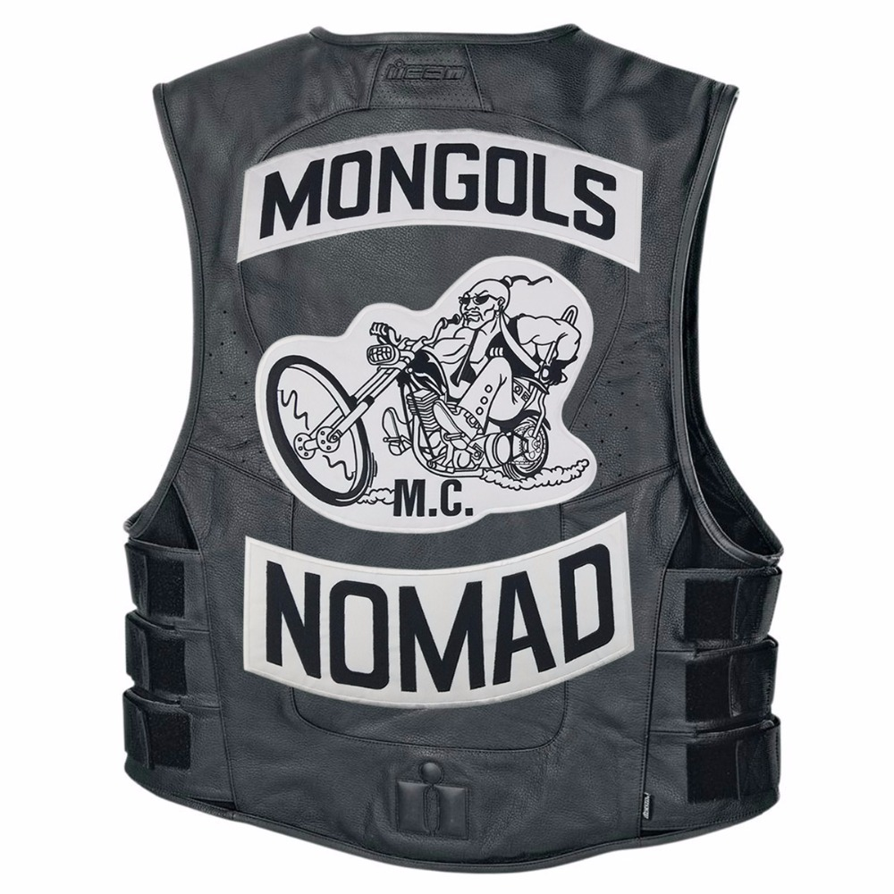 Image 5 - Mongols MC Patches Biker Back Nomad Rocker Patch Free Rider Motorcycle Embroidered Jacket Vest Badge Back Size Iron On-in Patches from Home & Garden
