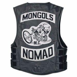 Image 5 - Mongols mc colete bordado nomad rocker, jaqueta para motociclistas, motociclista, costas, tamanho traseiro