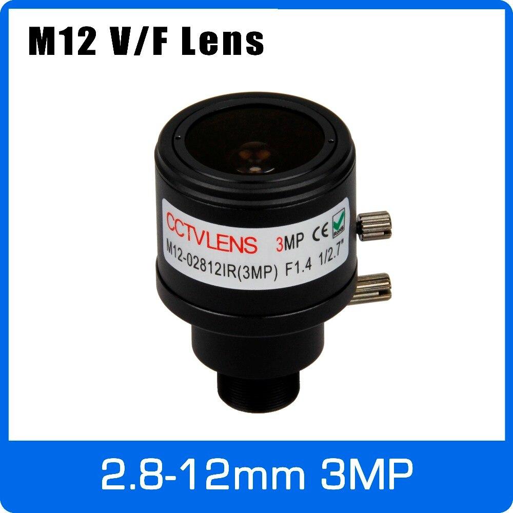 3 mégapixels À Focale Variable CCTV Objectif 2.8-12mm M12 Montage 1/2. 7 pouce Mise Au Point Manuelle et Zoom Pour 720 p 1080 p IP/AHD Caméra Livraison Gratuite