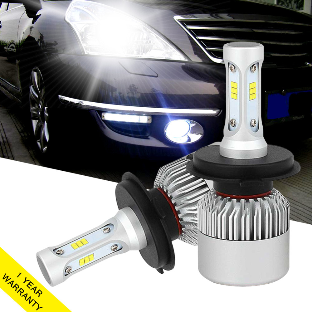 72W 8000LM Car Light Bulb H4 Led Headlight lamp H11 H7 H1 H3 9005 9006 6500K white Automobiles Headlamp fog light 12v led light auto headlamp h1 h3 h7 9005 9004 9007 h4 h15 car led headlight bulb 30w high single dual beam white light