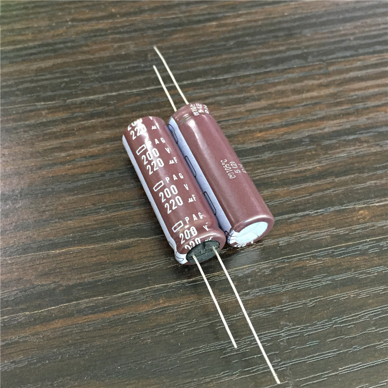 5pcs <font><b>220uF</b></font> <font><b>200V</b></font> NCC PAG Series 12.5x40mm High Ripple Current 200V220uF Aluminum Electrolytic Capacitor image