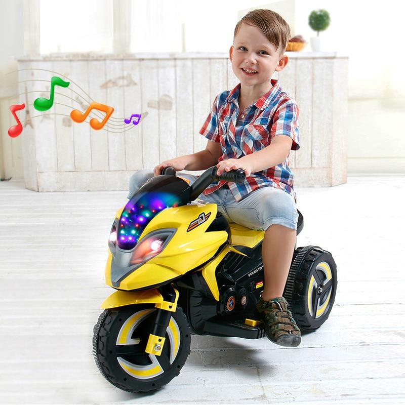 Crianças Scooter Elétrico Recarregável Três-rodas de Brinquedo Elétrico Do Bebê Carro Crianças Passeio em Triciclo Boy Toy Fresco Collectible carros