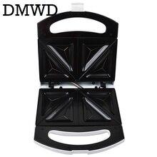 DMWD Электрический мини-сэндвич яйцеварка духовой шкаф для выпечки тортов вафельный обувь на подошве из вспененного материала тостер, завтрак хлеб машина гриль антипригарная форма для выпекания 110V