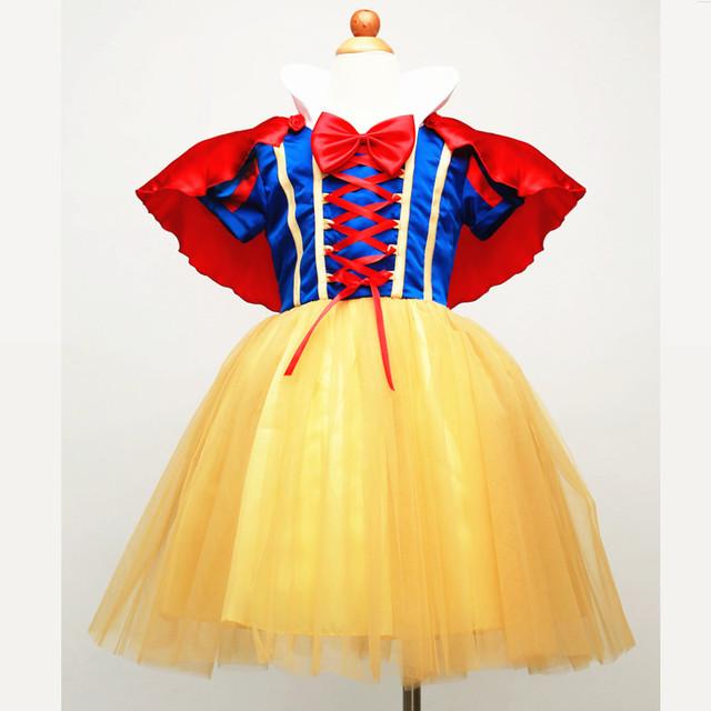 Niños Vestido de Blancanieves Princesa Vestido de Cosplay Del Partido de Halloween Traje Ropa de los niños niñas Vestidos de Ropa de Niños Sets