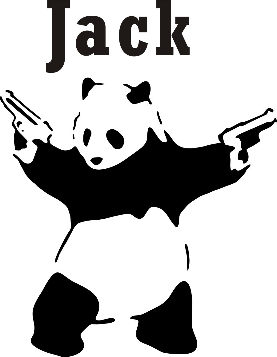 Personalized Name Customer Cool Panda Gun Kids Room Wall Decal Quote Sticker Art In Stickers From Home Garden On Aliexpress