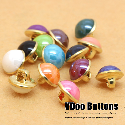 Free shipping Button monopoly wholesale candy-colored summer shirt female models Phnom Penh shirt buckle 10mm sewing supplies