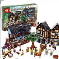 Lepin Castle 16011 1601Pcs Medieval Market Village Building Blcoks Bricks Toys For Children Gifts Compatible Gifts
