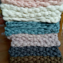 DIY Merino Newborn Baby Girls Boys 34X45CM Crochet Knit