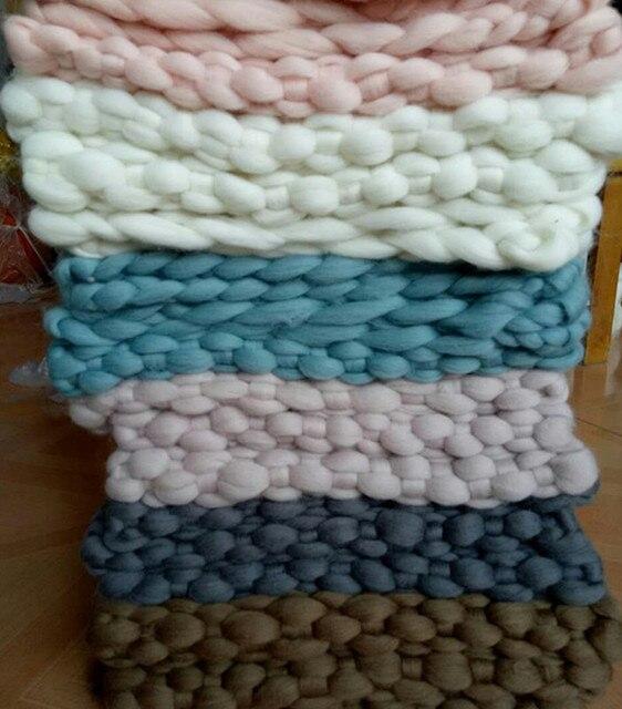 Ben noto FAI DA TE Merino Neonato Bambina bambino Coperta 34X45 CM Crochet  UQ09