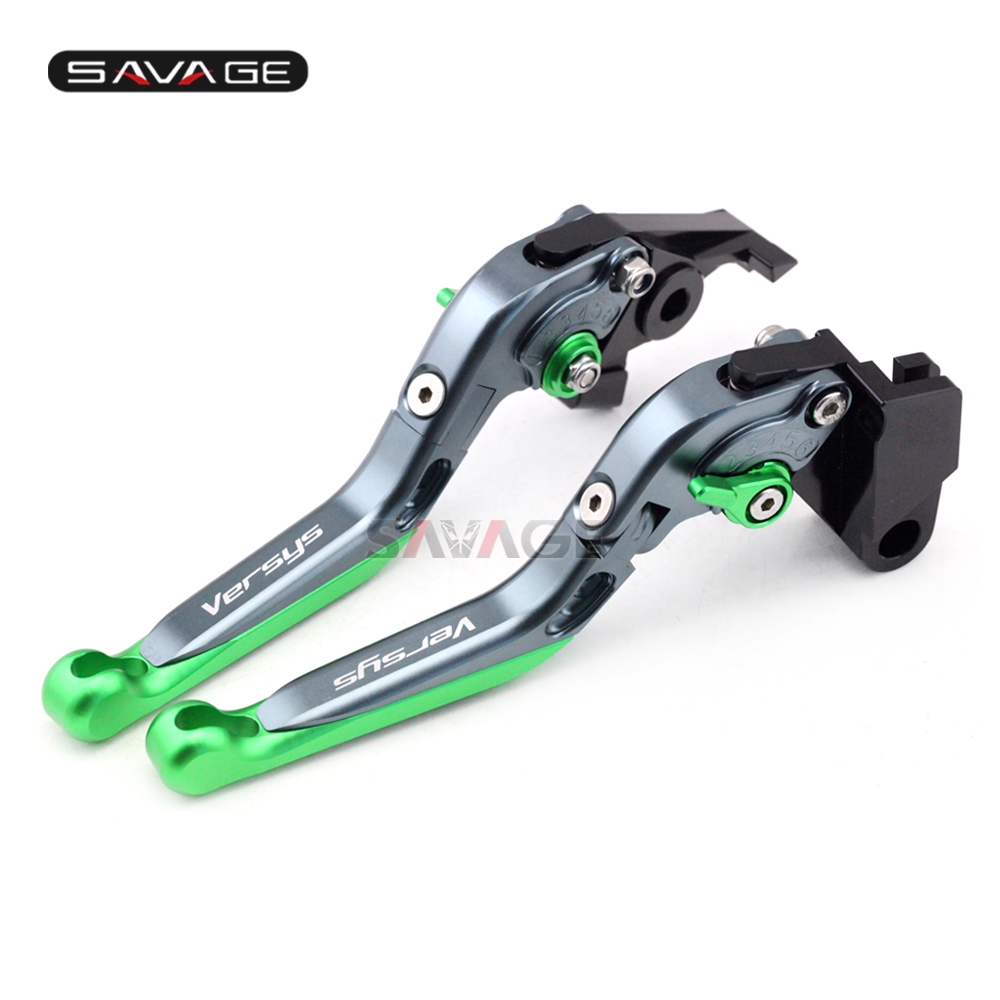 Brake Clutch Lever For KAWASAKI KLE 650 Versys 2006 2007 2008 Motorcycle Accessories Adjustable Folding Extendable Logo Versys adjustable folding extendable brake clutch lever for kawasaki versys 1000 versys1000 14 15 free shipping with logo motorcycle