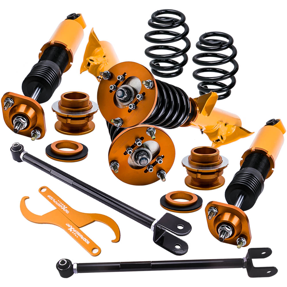 Coilover Coilovers Suspension Kit for BMW E36 3 Series M3 Touring Wagon Struts for 318i 323i 325i 328i Height Adjustable Arm for bmw e36 318i 323i 325i 328i m3 carbon fiber headlight eyebrows eyelids 1992 1998
