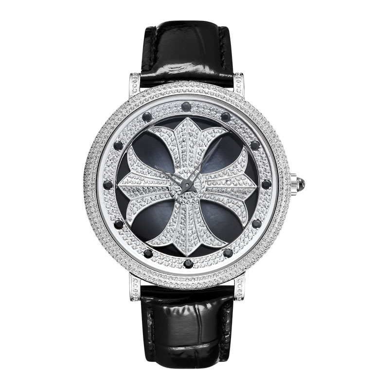 When The Quartz Rotates, The Fashion Is Neutral. The star Is Full Of 5A Cut Zircon. The Large Dial Is For Men And Women.When The Quartz Rotates, The Fashion Is Neutral. The star Is Full Of 5A Cut Zircon. The Large Dial Is For Men And Women.