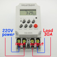 30amp 220V MINI TIMER SWITCH 7 Days Programmable Timer Relay FREE SHIPPING