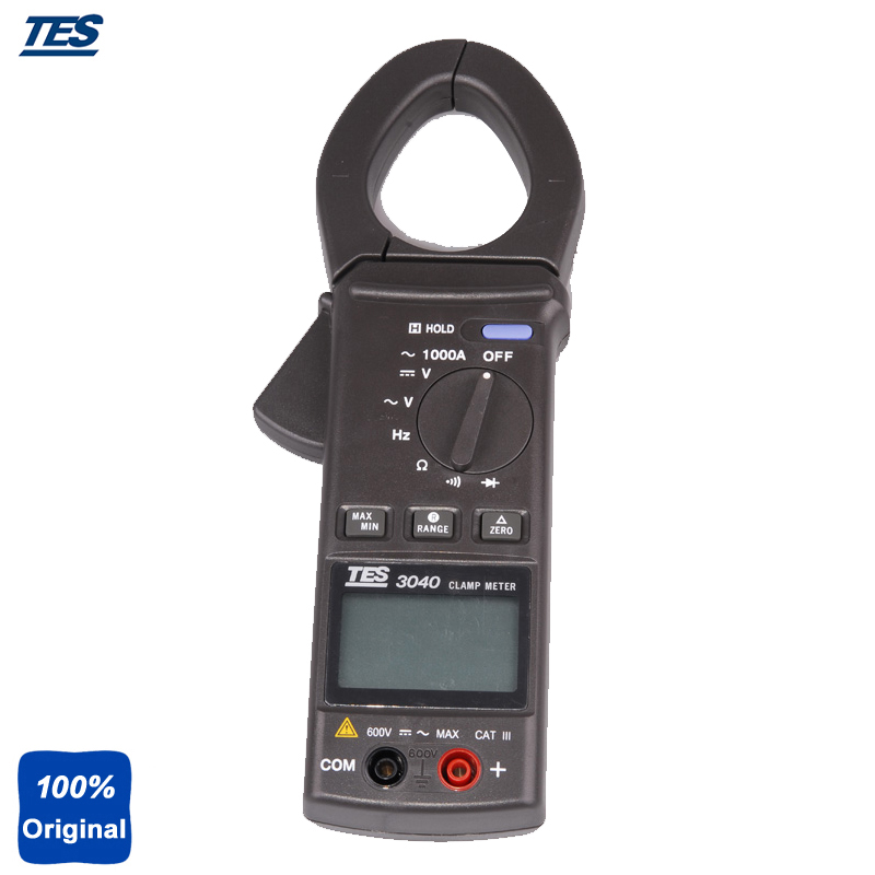 TES-3040 Auto-power Off with Data Hold and MAX/MIN Mode AC Clamp Meter
