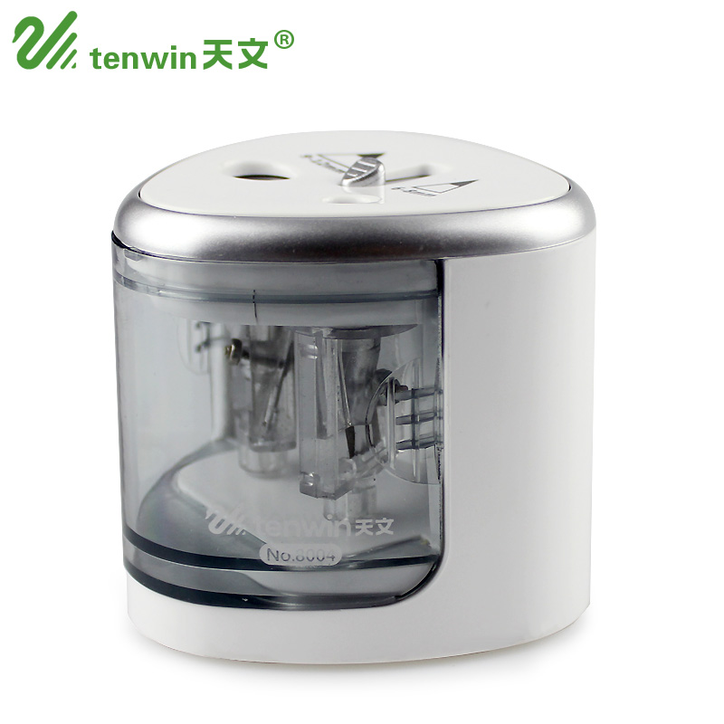 Double Hole Electric Pencil Sharpener,/ Battery//USB Operated,/ Fit for Different Size Pencils,/ 6-8mm,/ 9-12mm