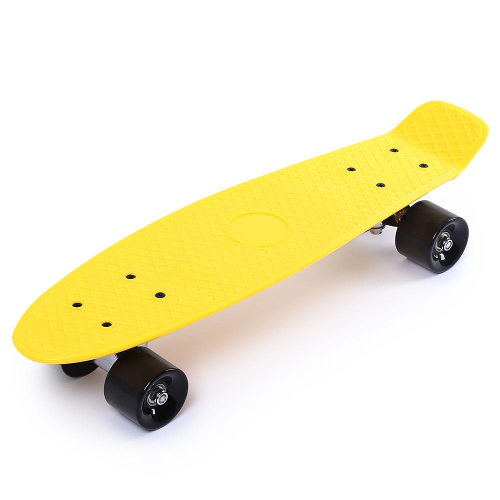 22 pouces quatre roues longue planche à roulettes Style rétro PP planche à roulettes planche à roulettes PP coup de pied pont arrière