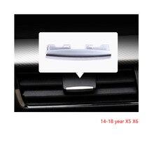Für BMW X5 X6 f15 14 18 chrome klimaanlage vent toggle stück outlet karte pad clip wind richtung einstellung plektrum