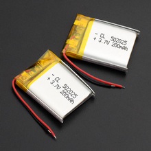 1/2/4pcs Chinese 502025 3.7v lithium ion battery 200 mah Li polymer battery for portable MP3 MP4 GPS remote controllers все цены