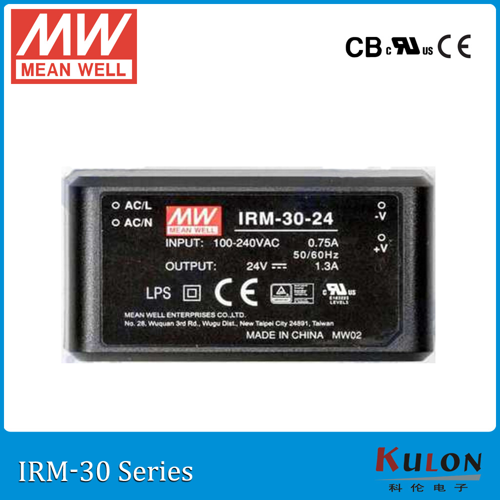 Original MEAN WELL IRM-30-12 single output 2.5A 12V 30W PCB module meanwell power supply IRM-30 genuine mean well irm 60 12st 12v 5a meanwell irm 60 12v 60w screw terminal style