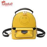 Fashion Candy Color Spring Small Women Backpacks School Bags For Backpacks For Teenage Girls Fashion Leather