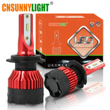CNSUNNYLIGHT 2PCS Auto K5 6500K LED H7 H4 H1 H11 9005 Car Headlight Bulbs 8000Lm 48W/Pair Customized ZES chips Automotive Lamps(China)