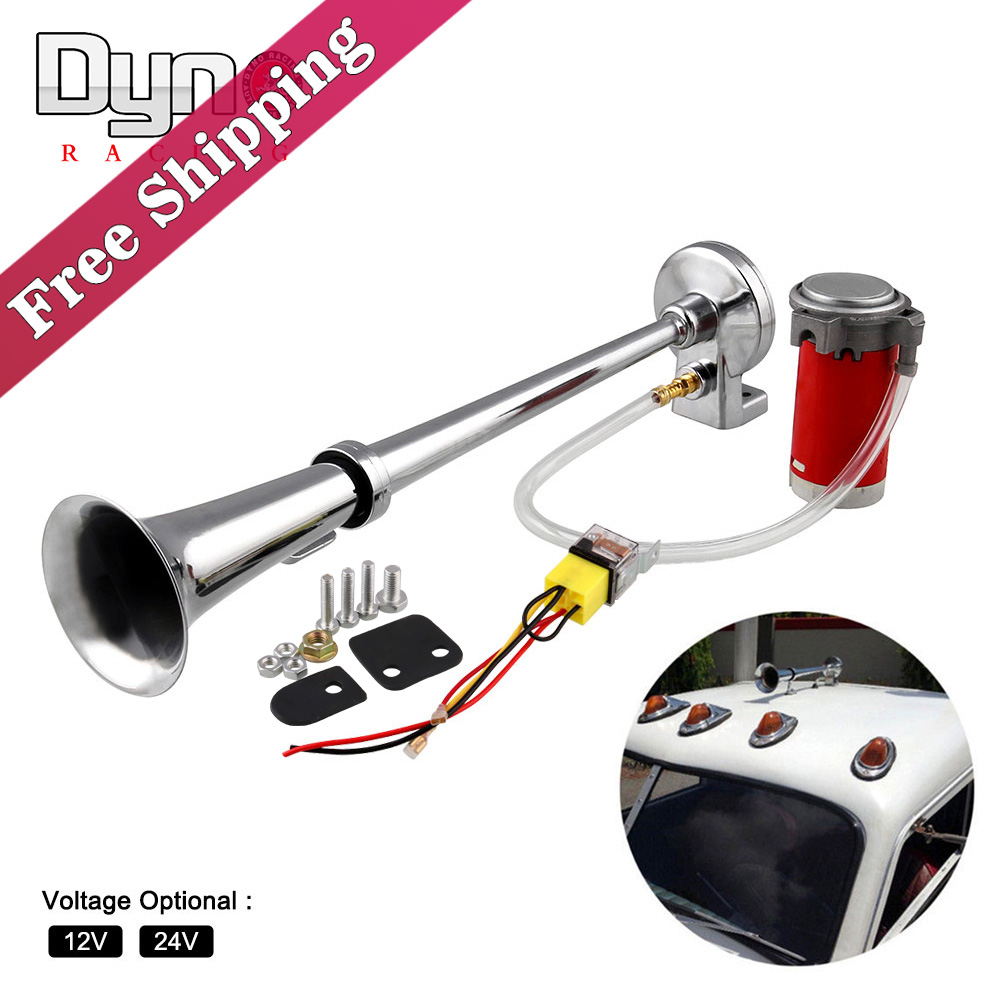 Air Horn Compressor >> Free Shipping 150db Super Loud 12v 24v Single Trumpet Air