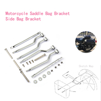 Side Luggage Support Motorcycle Saddle Bag Bracket For Steed 400 600 Magna 250 750 C50 M109R