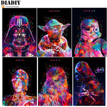 Diamante bordado colorido star wars imagem mosaico de cristal 5d ponto cruz quadrado broca redonda pintura diamante diy needlework(China)