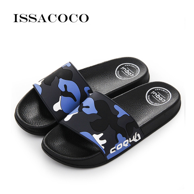 6dddb66fbf0168 ISSACOCO 2018 Shoes Men Flip Flops Slippers Sandals Men Summer Shoes Beach  Shoes Soft Beach Slippers