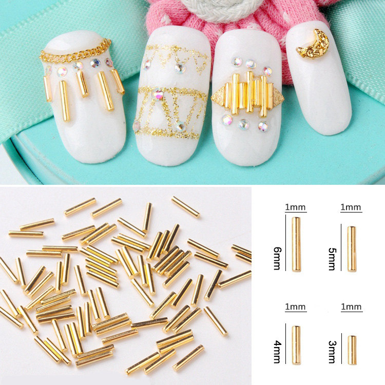Hot Sale 100pcslot Fashion Nail Accessory Metal Cone Spikes Nail